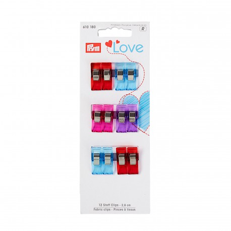 Fabric clips - 2,6 cm. - Prym Love art. 610180 Euro 7,50